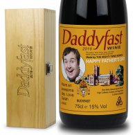 Fathers Day Gift Personalised Buckfast & Engraved Wooden Box Set