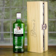 Personalised Gordons Gin BIG FACE bottle & Engraved Box 70cl