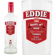 Personalised Smirnoff Vodka Bottle Gift Year Age 70cl