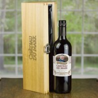 Personalised Christmas Wine & Engraved Gift Box Set