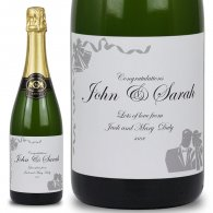 Bells & Bliss Personalised Wedding Labelled Wine
