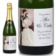 First Dance Personalised Wedding Labelled Wine