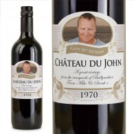 70th Birthday Present Gift Personalised Wine