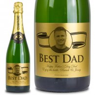 Fathers Day Gold Label Personalised Champagne