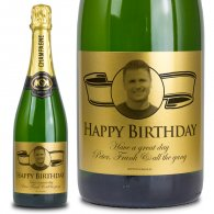18th Birthday Gift Gold Label Personalised Birthday Champagne