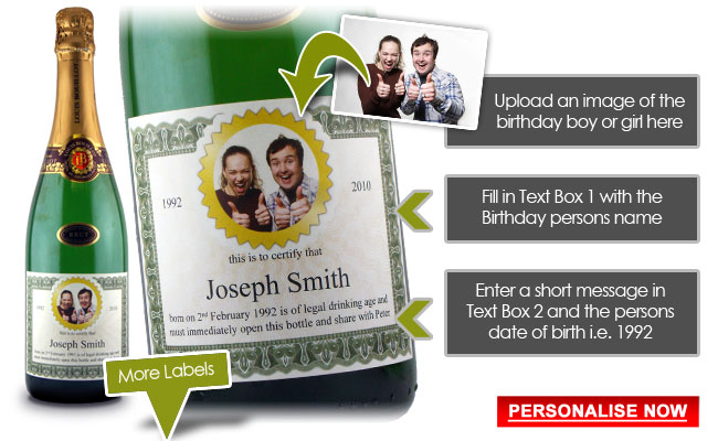 18th Birthday Present Idea Personalised Wine