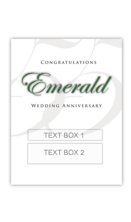 Emerald Anniversary Personalised Gift Wine
