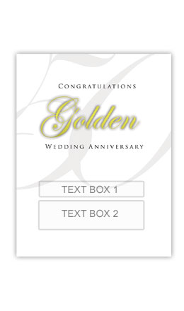 Golden Anniversary Personalised Gift Wine