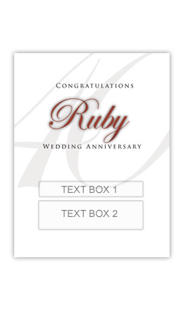 Ruby Anniversary Personalised Gift Wine