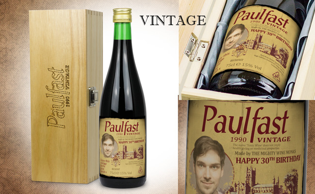 Personalised Vintage Buckfast Gift Set