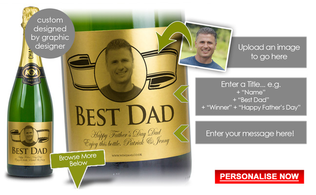 Personalised Fathers Day Gift Champagne