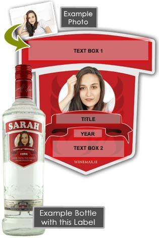 Personalised 30th Birthday Gift Smirnoff Vodka Bottle 70cl