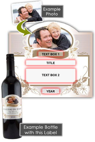 Father Personalised Fathers Day Gift Wine