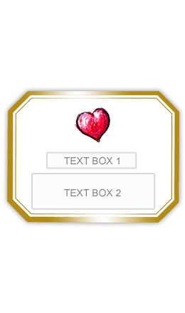 Gold Heart Personalised Wedding Labelled Wine - Click Image to Close