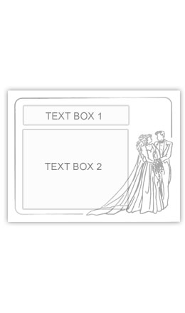 Silver Bride and Groom Personalised Wedding Labelled Wine