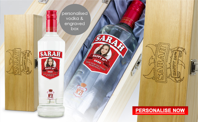 Personalised Smirnoff Vodka Bottle